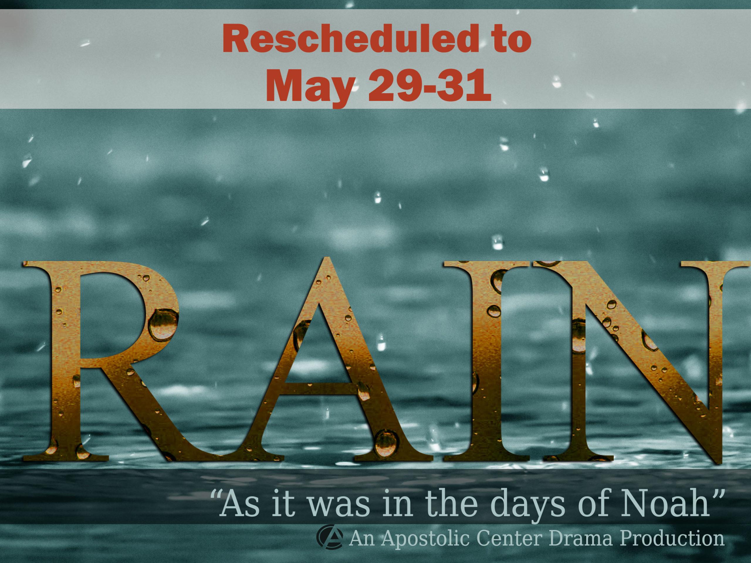 rain YD2020 rescheduled